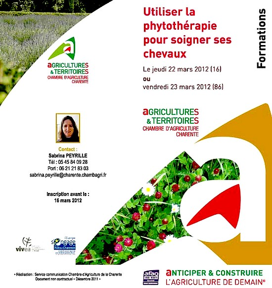 Formation phytoth rapie chambre agriculture charente - Chambre agriculture poitou charentes ...
